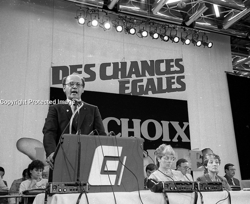 Yvon Charbonneau<br />  attend the CEQ Convention, June 25, 1984