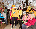 February 11, 2017. Raleigh, North Carolina.<br /> <br /> Supporters hold hands as the HKONJ pre-march speakers rally the crowd. <br /> <br /> Thousands gathered in downtown Raleigh for the annual HKONJ People's Assembly, a civil rights march tied to the Moral Monday movement. Supporters from around the state gathered to march and speak out against nationwide attacks on civil rights and the Trump administration.<br /> <br /> Jeremy M. Lange for The New York Times