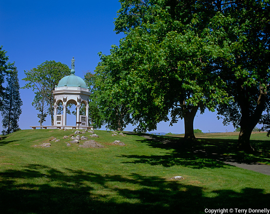 Anteitam National Battlefield, MD<br /> Maryland Monument; and shading trees