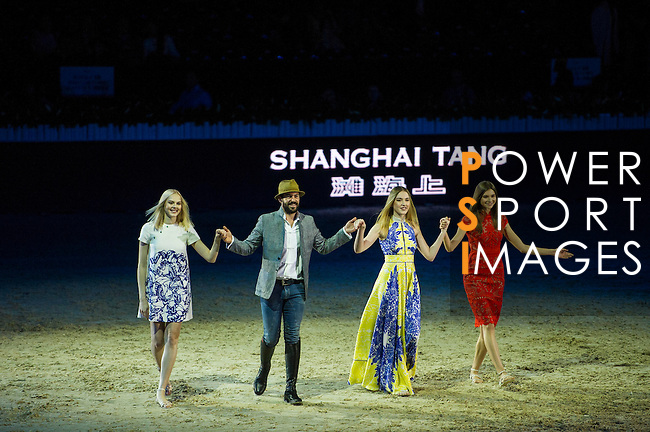 Santi Serra performs his show presented by Shanghai Tang at the Longines Masters of Hong Kong on 10 February 2017 at the Asia World Expo in Hong Kong, China. Photo by Juan Serrano / Power Sport Images
