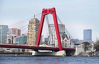 Nederland - Rotterdam - 26 maart 2018.  De Willemsbrug. Foto Berlinda van Dam / Hollandse Hoogte.