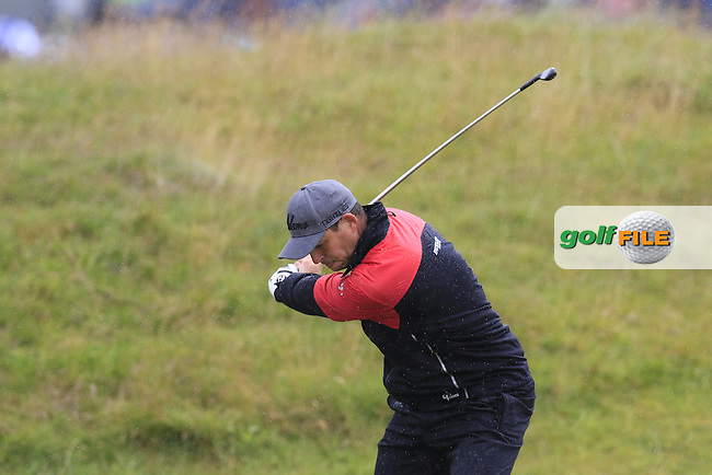 David HOWELL (ENG) plays his 2nd shot on the 4th hole during Sunday's Round  of the 144th Open Championship, St Andrews Old Course, St Andrews, Fife, Scotland. 19/07/2015.<br /> Picture Eoin Clarke, www.golffile.ie