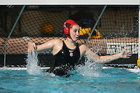 17 February 2008: Stanford Cardinal Amber Oland during Stanford's 10-5 win against the UC Davis Aggies at Maples Pavilion in Stanford, CA.