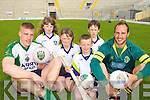 Launching the 2009 VHI GAA Cu?l Camps in Fitzgerald Stadium Killarney last Tuesday evening was front row Tommy Walsh, Kelsey Kerins, Se?ana Kerins, Killian Kerins, Killian Burke and Tadgh Kennelly.