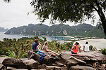 Ko Phi Phi was once an un-touched haven of jagged limestone cliffs, white sand and turquoise lagoons but today it has been nicknamed Ko Pee Pee by backpackers who visit, many of them desperate to leave its stink.Today, on the front of Phi Phi Don, the main tourist hub of the tiny butterfly shaped island, almost every potential piece of beachfront has been over-developed with the archipelago's ecology and animal life wiped off the map as a consequence.  Around the main ferry pier plastic water bottles and sewage bob in the pale green sea among fleets of long-tail tourist boats floating in their own oily residue.