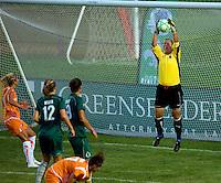 Saint Louis Athletica goalkeeper Jillian Loyden (13) during a WPS match at Anheuser Busch Soccer Park, in St. Louis, MO, July 22 2009. Athletica won the match 1-0.