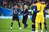 Kylian Mbappe and Didier Deschamps head coach of France celebrate his victory during the Semi Final FIFA World Cup match between France and Belgium at Krestovsky Stadium on July 10, 2018 in Saint Petersburg, Russia. (Photo by Anthony Dibon/Icon Sport)