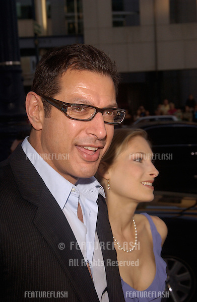 Actor JEFF GOLDBLUM & date at the Los Angeles premiere of The Manchurian Candidate..July 22, 2004