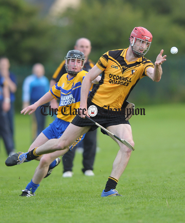 Darach Honan of Clonlara in action against XXX of Sixmilebridge during their senior championship game at Clarecastle. Photograph by John Kelly.