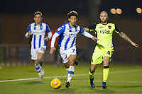 Courtney Senior of Colchester United outpaces Nicky Law of Exeter City down the right wing during Colchester United vs Exeter City, Sky Bet EFL League 2 Football at the JobServe Community Stadium on 24th November 2018