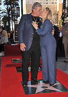 Diane Ladd & husband Robert Charles Hunter on Hollywood Boulevard where, together with her ex-husband Bruce Dern & their daughter Laura Dern, she was honored with a star on the Hollywood Walk of Fame. This was the first time in history that three stars from the same Hollywood family dynasty of actors was honored at the same time..The Hollywood Walk of Fame is celebrating its 50th anniversary this month..November 1, 2010  Los Angeles, CA.Picture: Paul Smith / Featureflash