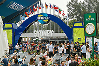 8th January 2020; Sydney Olympic Park Tennis Centre, Sydney, New South Wales, Australia; ATP Cup Australia, Sydney, Day 6; Croatia versus Argentina; fans arrive at the tennis precinct before the match - Editorial Use