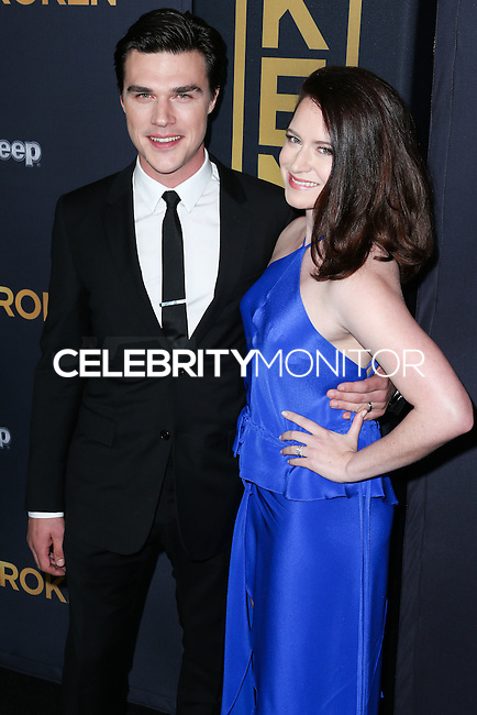 HOLLYWOOD, LOS ANGELES, CA, USA - DECEMBER 15: Finn Wittrock, Sarah Roberts arrive at the Los Angeles Premiere Of Universal Pictures' 'Unbroken' held at the Dolby Theatre on December 15, 2014 in Hollywood, Los Angeles, California, United States. (Photo by Xavier Collin/Celebrity Monitor)