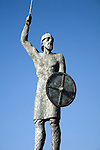 Statue of Saxon leader Brythnoth, Maldon, Essex, England