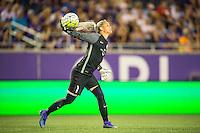 Orlando, Florida - Sunday, May 14, 2016: Orlando Pride goalkeeper Ashlyn Harris (1) during a National Women's Soccer League match between Orlando Pride and New York Flash at Camping World Stadium.