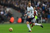 10th February 2018, Wembley Stadium, London England; EPL Premier League football, Tottenham Hotspur versus Arsenal; Christian Eriksen of Tottenham Hotspur
