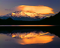 Mount Hood, Lost Lake, OR.  Sunset.