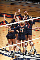 SAN ANTONIO, TX - NOVEMBER 6, 2010: The Stephen F. Austin University Ladyjacks vs. the University of Texas at San Antonio Roadrunners Women's Volleyball at the UTSA Convocation Center. (Photo by Jeff Huehn)