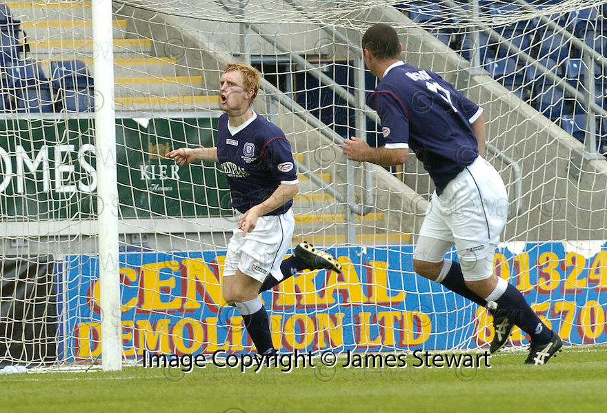 28/07/2007       Copyright Pic: James Stewart.File Name : sct_jspa07_falkirk_v_ajax.LIAM CRAIG CELEBRATES AFTER HE SCORES FALKIRK'S FIRST....James Stewart Photo Agency 19 Carronlea Drive, Falkirk. FK2 8DN      Vat Reg No. 607 6932 25.Office     : +44 (0)1324 570906     .Mobile   : +44 (0)7721 416997.Fax         : +44 (0)1324 570906.E-mail  :  jim@jspa.co.uk.If you require further information then contact Jim Stewart on any of the numbers above........
