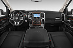 Stock photo of straight dashboard view of a 2015 Ram 2500 Laramie 4 Door Truck