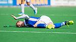 BLOEMENDAAL - blessure voor Erik Bouwens (Kampong) Bloemendaal-Kampong (1-3). COPYRIGHT KOEN SUYK