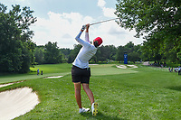 Carlota Ciganda (ESP) hits her approach shot from the rough on 10 during round 3 of the 2018 KPMG Women's PGA Championship, Kemper Lakes Golf Club, at Kildeer, Illinois, USA. 6/30/2018.<br /> Picture: Golffile | Ken Murray<br /> <br /> All photo usage must carry mandatory copyright credit (&copy; Golffile | Ken Murray)