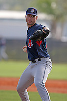 Cleveland Indians minor leaguer Dan Denham during Spring Training at the Chain of Lakes Complex on March 16, 2007 in Winter Haven, Florida.  (Mike Janes/Four Seam Images)