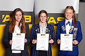 Distance Running Girls finalists Ella Mangan-Walker, Georgina Grgec and Brigitte Hicks. ASB College Sport Young Sportsperson of the Year Awards held at Eden Park, Auckland, on November 11th 2010.
