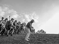 Francesco Molinari (ITA) in action on the 17th hole during the second round of the 76 Open D'Italia, Olgiata Golf Club, Rome, Rome, Italy. 11/10/19.<br /> Picture Stefano Di Maria / Golffile.ie<br /> <br /> All photo usage must carry mandatory copyright credit (© Golffile | Stefano Di Maria)