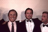 Kirk Douglas &amp; Michael Douglas 1987 <br /> By Jonathan Green