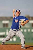 May 9, 2010: Ethan Martin of the Inland Empire 66'ers during game against the Lancaster JetHawks at Clear Channel Stadium in Lancaster,CA.  Photo by Larry Goren/Four Seam Images