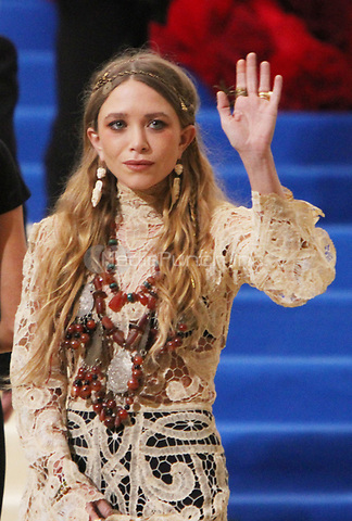 NEW YORK, NY May 01, 2017 Ashley Olsen  attend  The Metropolitan Museum of Art Costume Institute Benefit Gala for Rei Kawakubo Comme des Garcons at  Metropolitan Museum of Art  in New York May 01,  2017. Credit:RW/MediaPunch