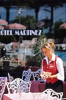 France/06/Alpes-Maritimes/Cannes : L'hotel Martinez sur la croisette [Non destiné à un usage publicitaire - Not intended for an advertising use]