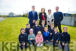 Abbeydorney locals  appealing for funds for playground which has just received Planning Permission. Pictured front l-r Nicole Fitzmaurice, Nora O'Mahony, Lily Walsh, Harry Healy,  Lisha Walsh, Luke Fitzmaurice, Middle l-r Luke Clifford, Rebecca O'Mahony, Cian Mangan, Eoin Mangan, Back l-r Joe Walsh, Chairman of the development committee, Ciara Healy, PRO, Annie O'Mahony, Fundraiser, Tom Fitzmaurice, Vice Chairman