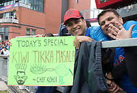 Indian fans with today's special during India vs New Zealand, ICC World Cup Semi-Final Cricket at Old Trafford on 9th July 2019