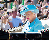 HM The Queen Elizabeth II<br /> Celebration marking The Queen's official birthday, Trooping The Colour, The Queen's official birthday, Buckingham Palace, London, England UK on June 09, 2018.<br /> CAP/JOR<br /> &copy;JOR/Capital Pictures
