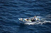 Fishing boat with fishing pots.La Gomera, Canary Islands
