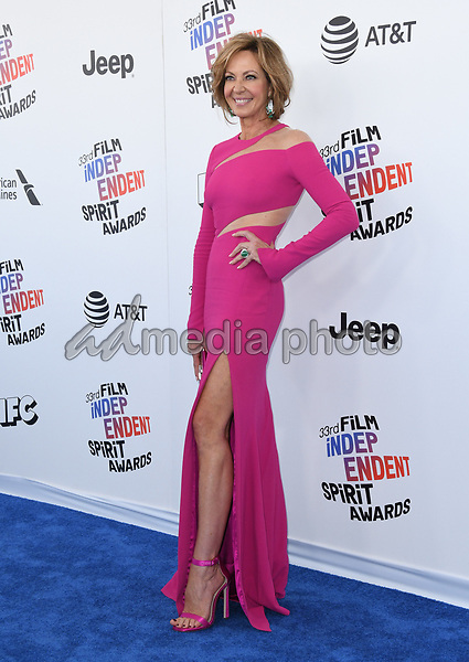 03 March 2018 - Santa Monica, California - Allison Janney. 2018 Film Independent Spirit Awards -Arrivals, held at the Santa Monica Pier. Photo Credit: Birdie Thompson/AdMedia