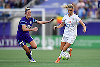 Orlando, FL - Saturday Sept. 24, 2016: Becky Edwards, Katie Bowen during a regular season National Women's Soccer League (NWSL) match between the Orlando Pride and FC Kansas City at Camping World Stadium.