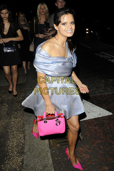 Bip Ling<br /> The Serpentine Gallery Summer Party, Serpentine Gallery, Kensington Gardens, Hyde Park, London, England.<br /> June 26th, 2013<br /> full length blue dress pink bag shoes pointy pointed silk satin cut out shiny  <br /> CAP/CAN<br /> &copy;Can Nguyen/Capital Pictures