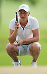 CHON BURI, THAILAND - FEBRUARY 16:  Suzann Pettersen of Norway lines up a putt on the 14th green during day one of the LPGA Thailand at Siam Country Club on February 16, 2012 in Chon Buri, Thailand.  Photo by Victor Fraile / The Power of Sport Images