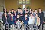 Fybough NS pupils who made their confirmation in Keel on Monday front row l-r: Hanna O'Sullivan, Sean Evans, Niamh Carmody, Daniel Hickey, Sean Cremins. Back row: Eileen Lovett Teacher, Darragh Evans, Maurice Lenihan, Tara Pigott, Cian Sayers, Darren Griffin, Morgan Sayers, Timmy Glavin, Adam Kelliher, Daniel Ashe, Martin Callum Angela Prendergast Principal