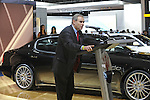 Roberto Ronchi, Maserati CEO and General Manager, introduces the Quattroporte Automatic at the Detroit Auto Show in Detroit, Michigan on January 12, 2009.