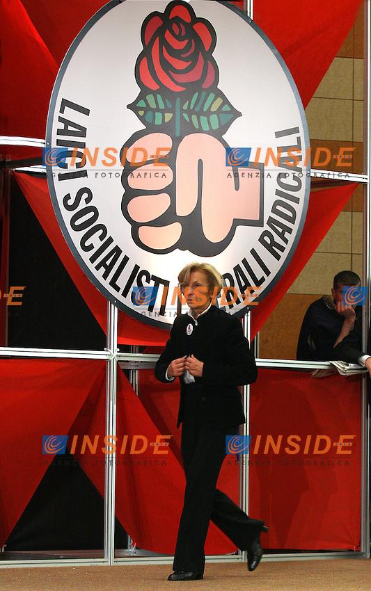 Roma, 12/03/06 Manifestazione nazionale di apertura della campagna elettorale della Rosa nel Pugno. Nella foto Emma Bonino, parlamentare europea per i Radicali.<br /> Photo Samantha Zucchi Insidefoto