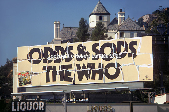 Who billboard for the album Odds and Sods circa 1974