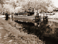 C&O Canal and Barge at Great Falls Park in Maryland.