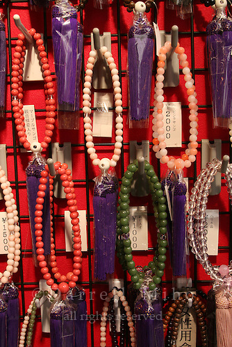 Mar 6, 2006; Tokyo, JPN; Asakusa.Juzu (prayer beads) on display at a shop along Nakamise-dori as you approach the Senso-ji Buddhist temple...Photo credit: Darrell Miho