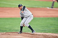Grand Junction Rockies starting pitcher Jeffri Ocando (30) delivers a pitch to the plate against the Ogden Raptors at Lindquist Field on September 6, 2017 in Ogden, Utah. Ogden defeated Grand Junction 11-7. (Stephen Smith/Four Seam Images)