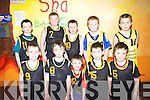 St. Bridget's Currow under 10 basketball at the basketball blitz at The Community, Ballybunion on Sunday were front l-r. Liam Butler, Eoghan McMahon, William Brosnan, Jonathan O'Rourke and Thomas Barrett.  Back l-r. Sean Brosnan, Jack Scanlon, James Brosnan, Jack O'Sullivan and Padraig Broderick.