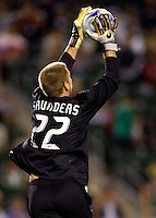 LA Galaxy goalkeeper Josh Saunders. LA Galaxy defeated the Colorado Rapids 3-2 at Home Depot Center stadium in Carson, California on Sunday October 12, 2008. Photo by Michael Janosz/isiphotos.com